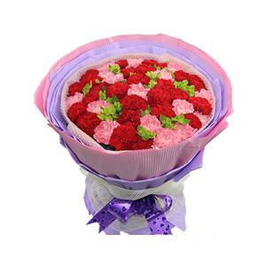 鲜花/母子情: 16支粉康,26支红康  [包 装]:高档棉