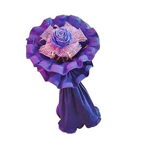 鲜花/灵秀: 一枝蓝色妖姬  [包 装]:网纱内衬,紫色卷