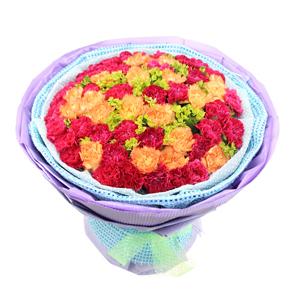 鲜花/深深的爱: 32枝红色康乃馨,20枝黄色康乃馨  [包
