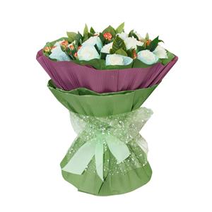 鲜花/一生陪伴: 19枝白玫瑰精美独立包装  [包 装]:浅蓝