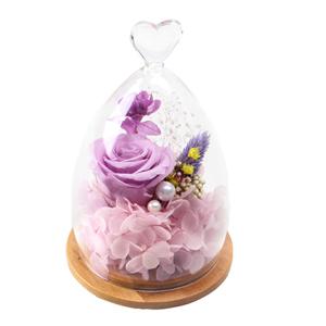 鲜花/紫霞: 厄瓜多尔进口永生紫玫瑰1支,搭配绣球,满天星等