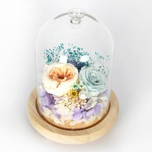鲜花/窈窕淑女: 日本奥斯汀进口永生花1枝,厄瓜多尔蒂芙尼蓝色永
